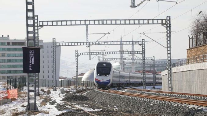 The high-speed train expected for years came to Sivas