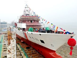 thousand ton haixun ship commenced duty in taiwan strait
