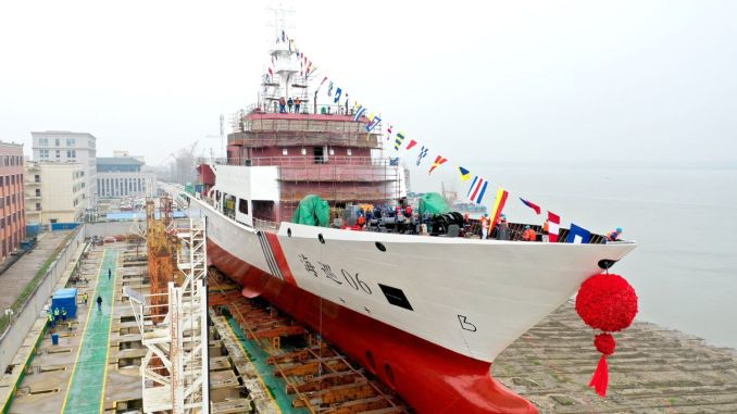 بدأت سفينة هايكسون ألف طن في العمل في مضيق تايوان