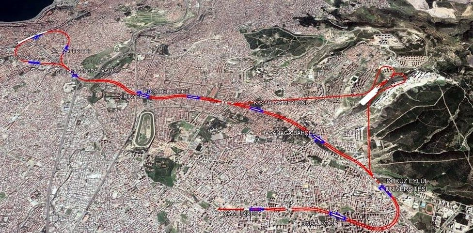Mapa metroa Buca