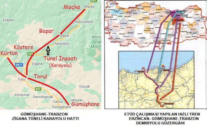 Erzincan Gumushane Trabzon Railway
