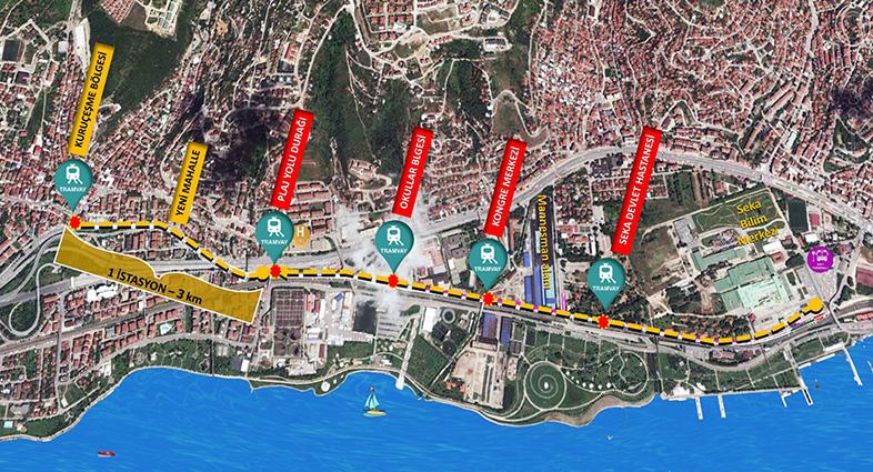 Kurucesme Tram Map