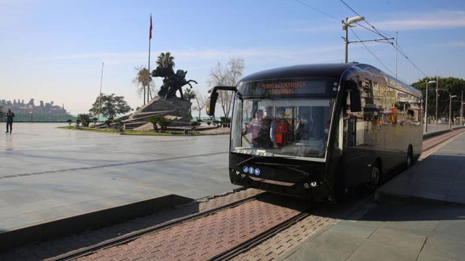 Electric buses will serve on the nostalgic tram line of Antalya