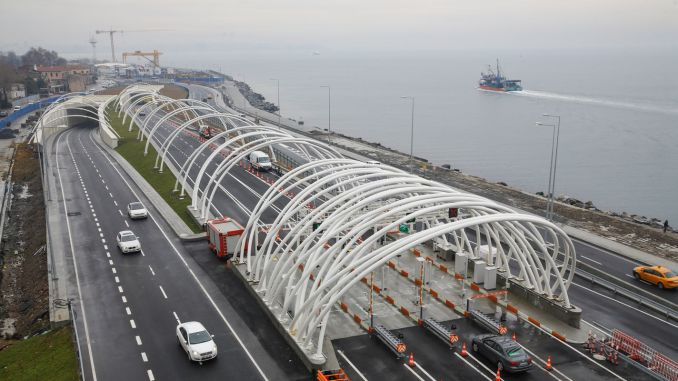 Eurasian tunnel crossing fee increased per cent