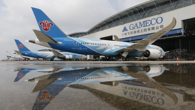 Boeing and Gameco will fly the production line in gin