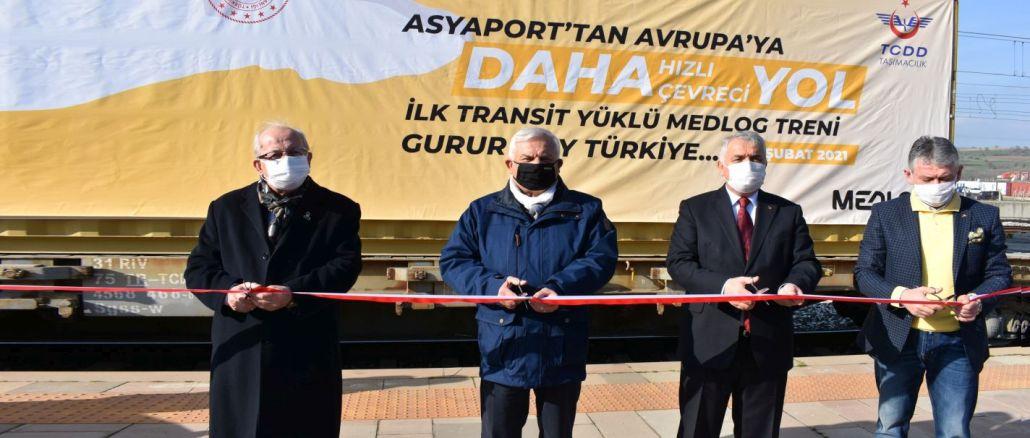 Ensimmäinen kauttakuljetus lähti Bulgariaan junalla