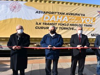 The first transit cargo set out to bulgaria by train