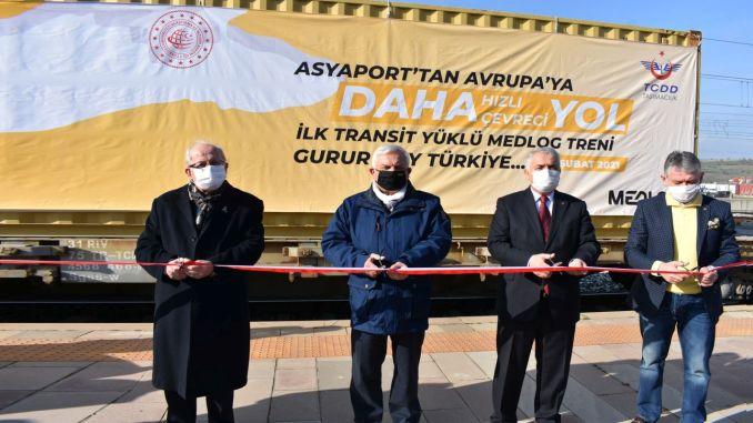 bulgaristana tren ile ilk transit yuk yola cikti