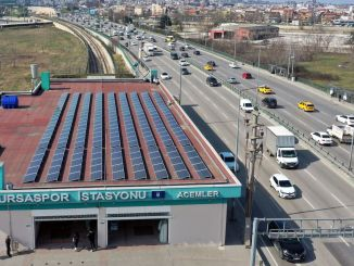 The Roof of the Metro Stops in Bursa Turns into a Solar Power Plant