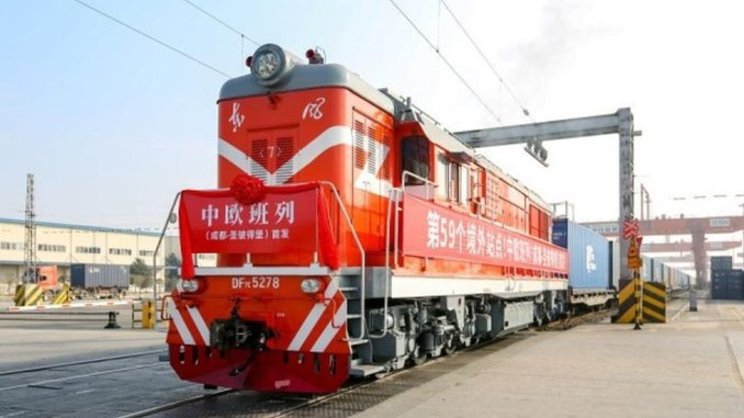 gin opens a new railway line to europe