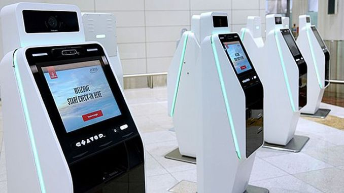 emirates improves contactless travel with smart self check in kiosks