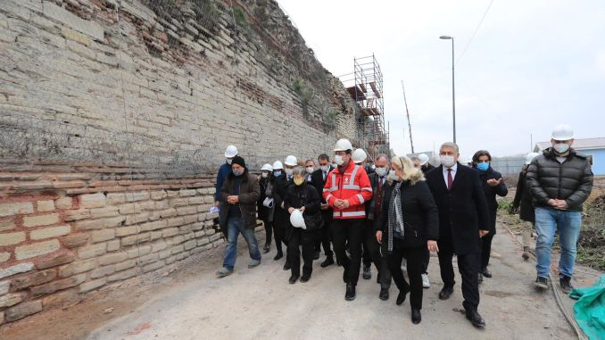 The walls of imamoglu yedikule have not been touched for years