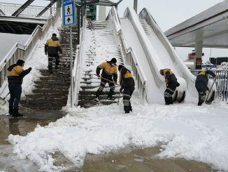 Debljina snijega dostigla je cme u Istanbulu