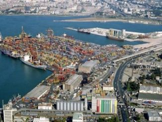 izmir port docks and backfilling
