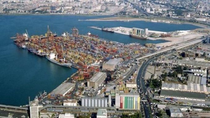 izmir port docks and backfilling