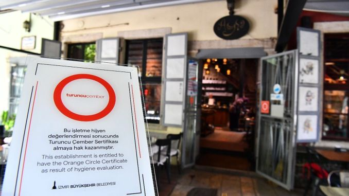 Takeaway is included in the Izmir Orange Cember Hygiene Certificate