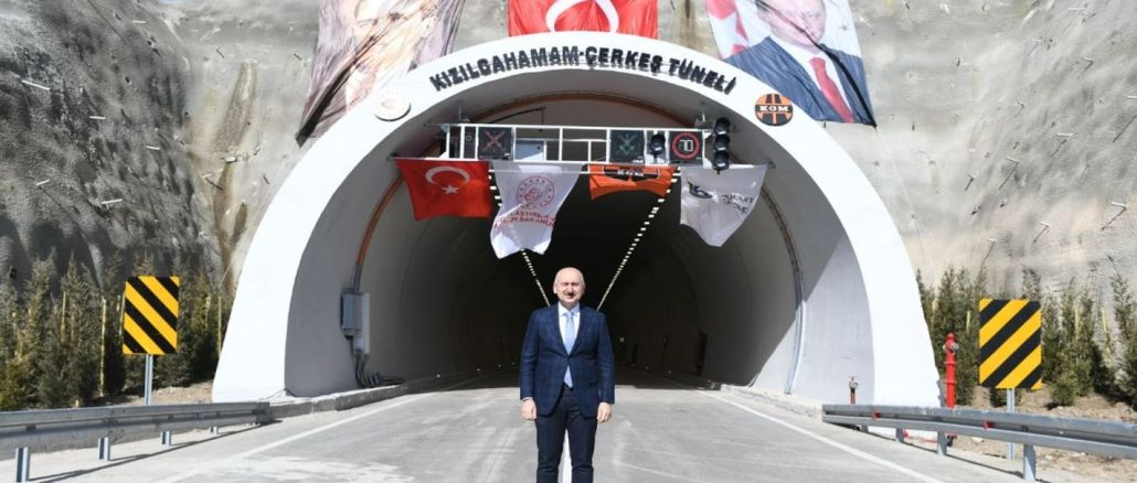 kizilcahamam cerkes tunnel opened to traffic