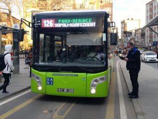 kontrola pandemije u privatnim javnim autobusima Kocaeli