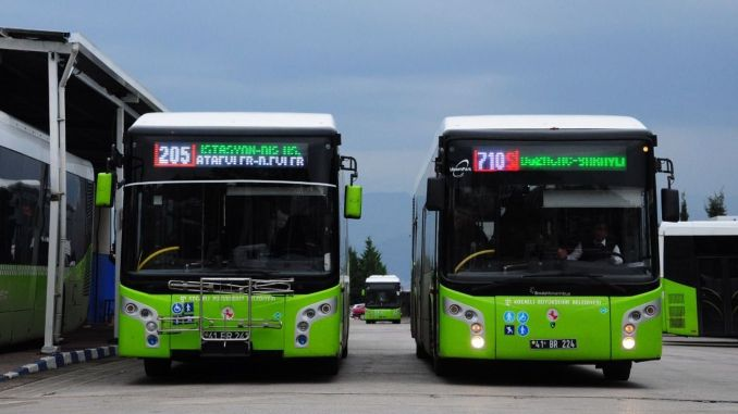 Kocaeli transportation buses will serve on the weekend line