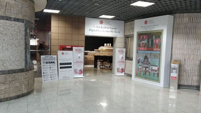 digital miniature exhibition opened at marmaray yenikapi station