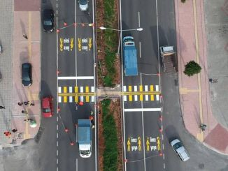 For the first time in Mersin, pedestrian crossings suitable for visually impaired individuals are drawn