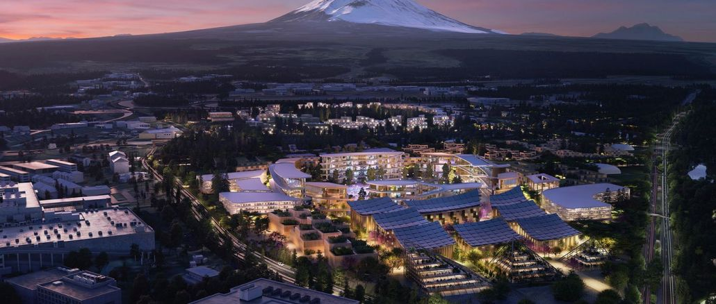Toyota begann mit dem Bau der gewebten Stadt, der Stadt der Zukunft