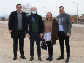 Tugiad Bursa Branch inspizierte Gemlik inländische Autofabrik Bau