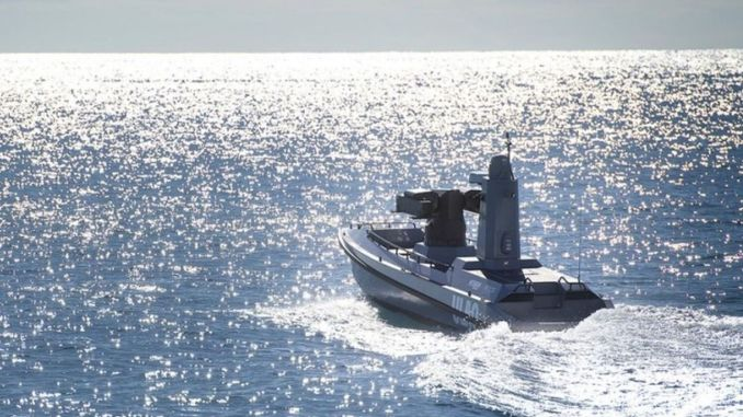 Das erste unbeaufsichtigte bewaffnete Turkiyenin-Seefahrzeug wurde ulaq gestartet