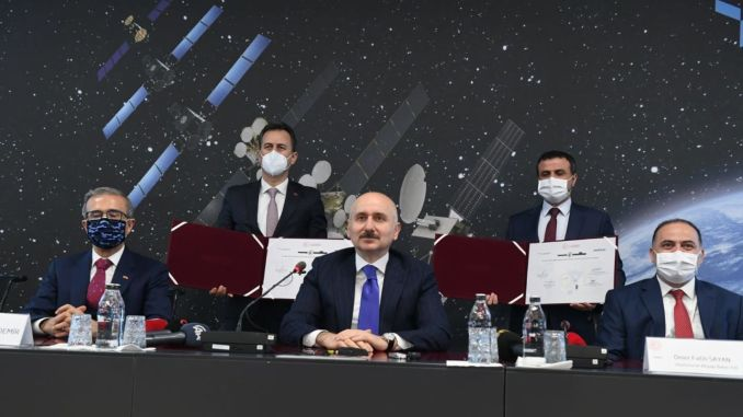 The historical step for national communication between turksat and aselsan