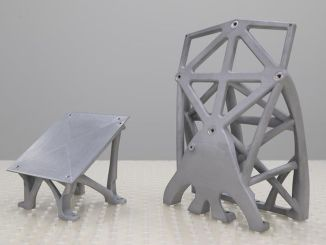 was able to produce key satellite structures on three-dimensional printers