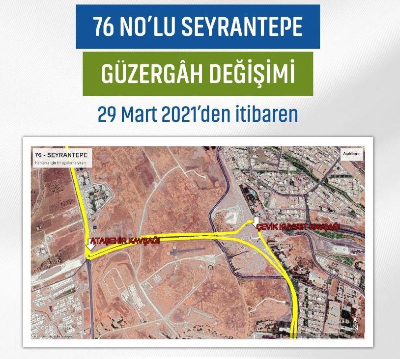 Change of Seyrantepe route
