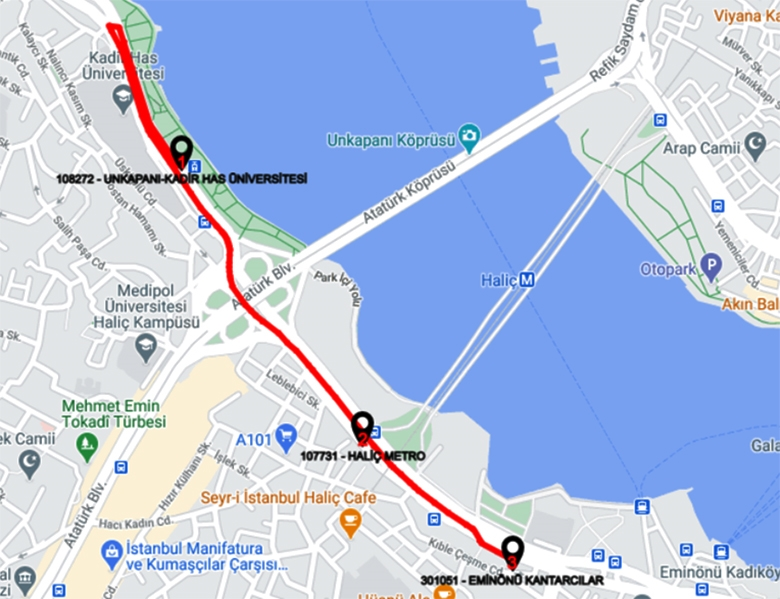 Free Bus Flights to Connect Alibeykoy Cibali Tram to Eminonu