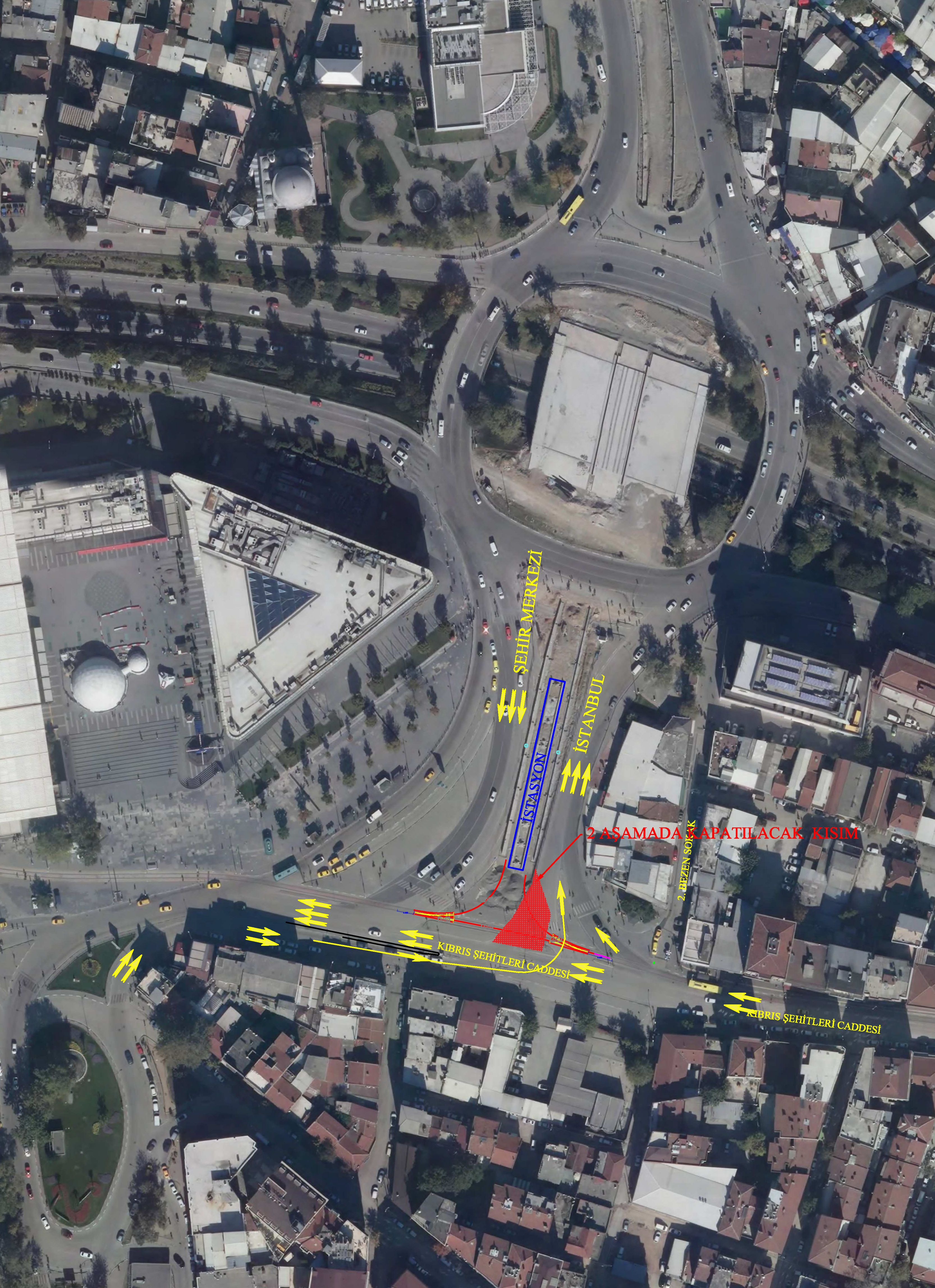 Traffic Arrangement in Bursa City Square