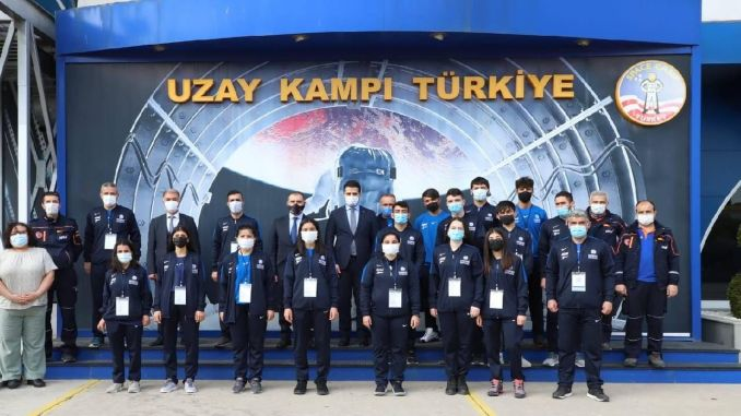 AFAD'ın volunteers of young athletes visited the space camp turkiyede