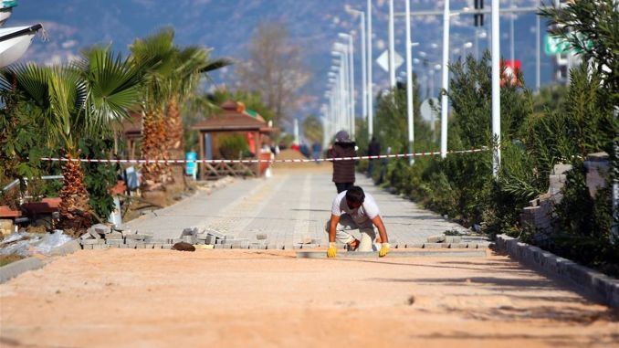 alanya uninterrupted bicycle path has come to an end in the first phase works