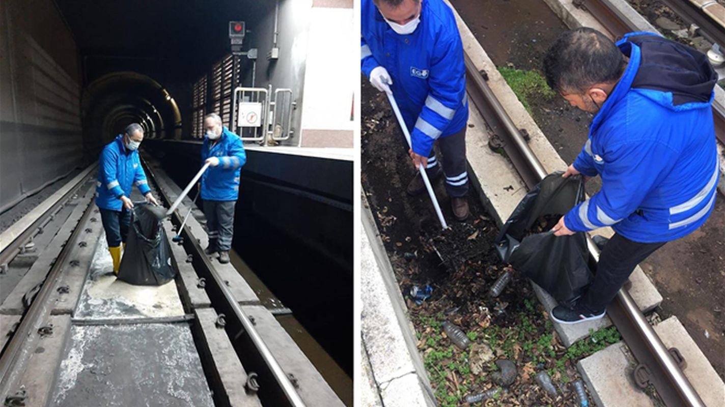 Comprehensive cleaning on the ankara metro kizilay batikent line