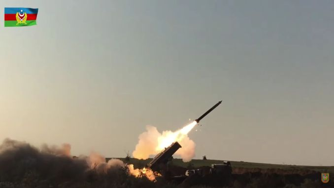 azerbaijan shared trlg missile images of rocket