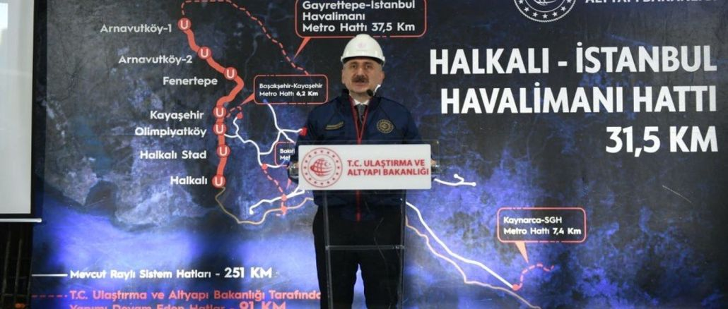 Minister explained that two rail system line is coming to Istanbul