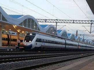 fast train service with bus transfer to Bursa