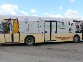 gender equality messages all over Izmir with eshot buses