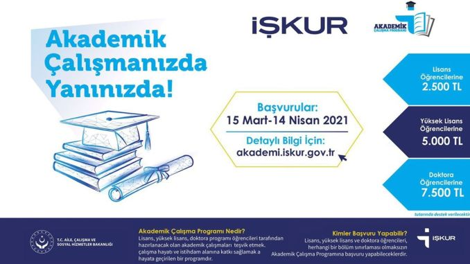 Support for academic studies from Iskur