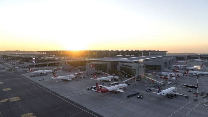Istanbul airport served passengers in February