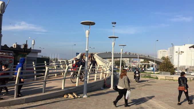 mansion square bahri baba park pedestrian overpass is being renewed