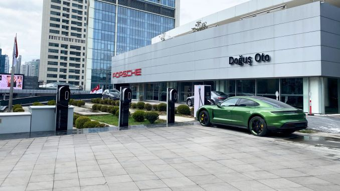porsche tum electric cars charging network founded on the turkiyeye