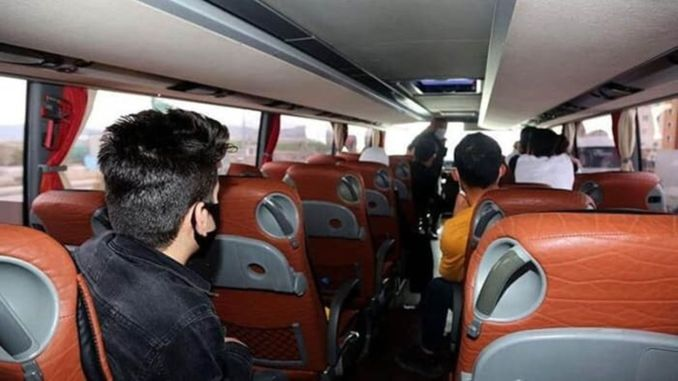 Percentage of passenger transport between cities has been lifted