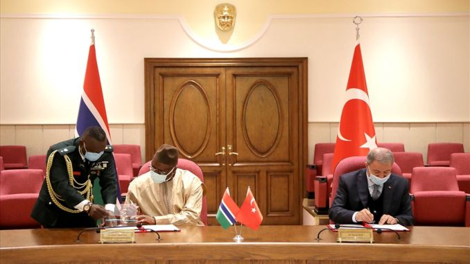 Gambia is military cooperation and training agreement signed with turkey