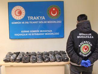 在Kapikule Gumruk門檢獲一千多種藥丸