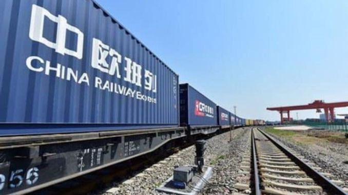 Cin european freight train has reached the number of trips