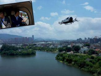 Cinde的无人驾驶无人机出租车首次与一名乘客飞过