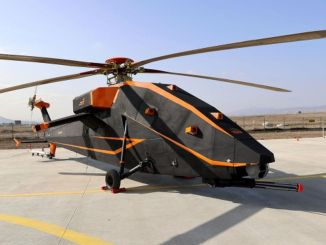 The prototype of the electric unmanned attack helicopter was produced.